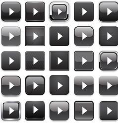 Square black arrow icons vector