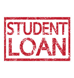 stamp text student loan vector image