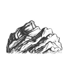 summit of mountain landscape hand drawn vector image