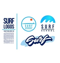 Surf Logo Wave logotype blue vector image