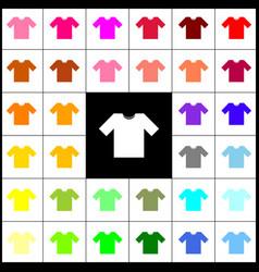 t-shirt sign felt-pen 33 vector image