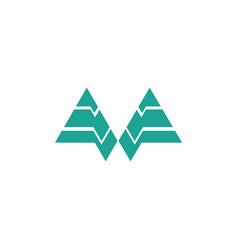 triangle shape business logo vector image