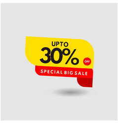 Up to 30 special discount label template design vector