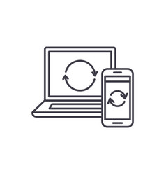 update computer data line icon concept update vector image