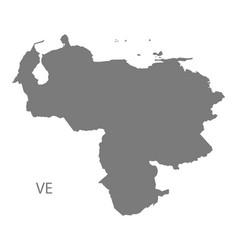 Venezuela map grey vector