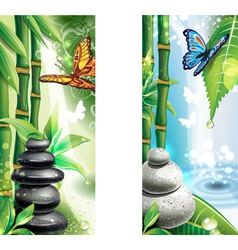 Vertical banners with background of a SPA vector image