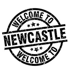 Welcome to newcastle black stamp vector