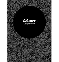 White Halftone Dots Frame on Black Background vector image