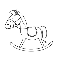Wooden horse icon image vector