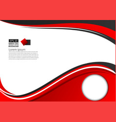 abstract red and black geometric on white vector image