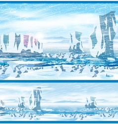 Arctic blizzard vector image vector image