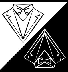 black and white suits vector image vector image