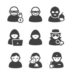 Cybercriminals vector image vector image