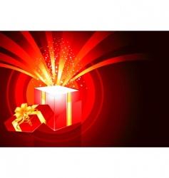 magic box present vector image vector image