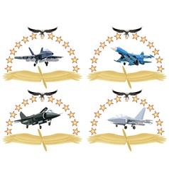 Modern military aircraft-1 vector image