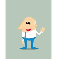 Old Cartoon businessman vector image vector image