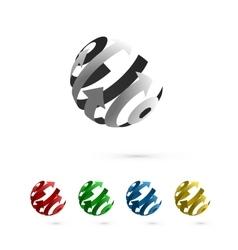 Set of Abstract Globe Rotating Arrows vector image