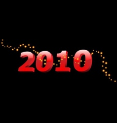 2010 year vector image vector image