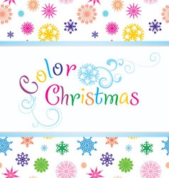 color christmas vector image vector image