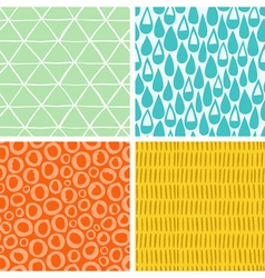 Doodle abstract patterns part 2 vector image vector image