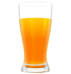 Full glass of fresh orange juice vector image vector image