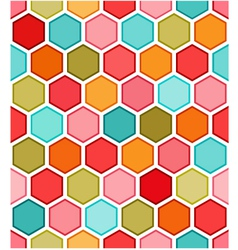 hexagon multicolored seamless pattern vector image