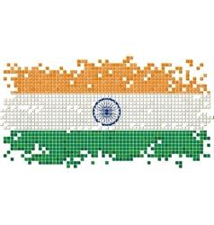 Indian grunge tile flag vector