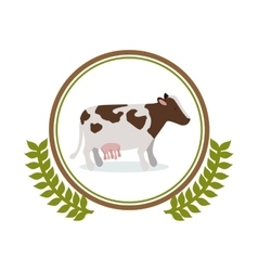 Cow milk symbol vector image