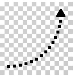dotted growth line icon vector image