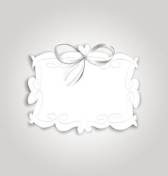 Frame ribbon vector image