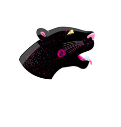 graphics head of a black panther vector image