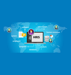 hris human resources information system software vector image vector image