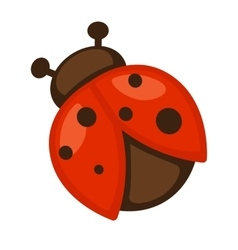 Ladybug Icon of bright small insect vector image vector image