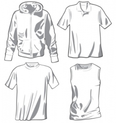 set of the casual wear vector image