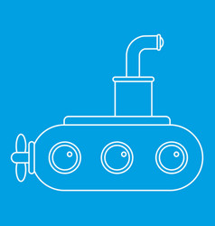 submarine icon outline vector image vector image