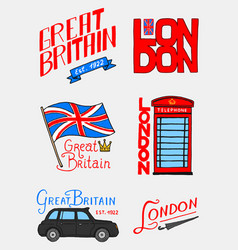 british logo symbols badges or stamps emblems vector image