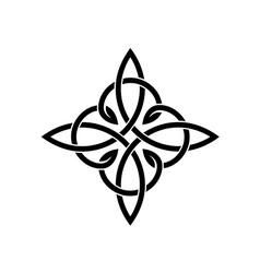 Celtic knots elegant cross weaven tattoo template vector image vector image