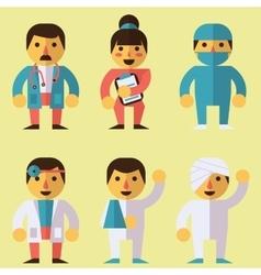 Doctors surgeon nurse patients vector image vector image