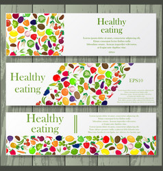 healthy life style banners vector image vector image