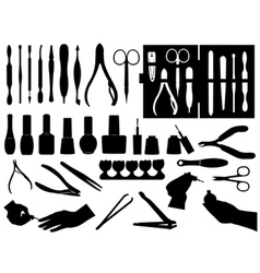 Manicure and pedicure elements vector