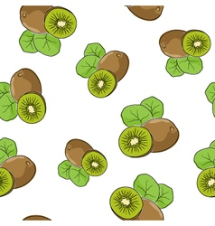 Seamless Pattern of Kiwifruit vector image