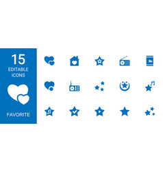 15 favorite icons vector