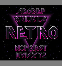 80 s retro font typography for flyers vector