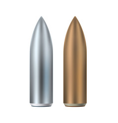 abstract bullet set army weapon equipment vector image