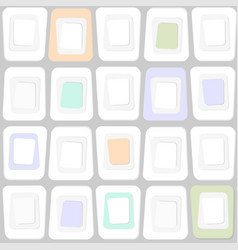 Abstract texture of square shapes in sixties style vector