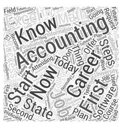 Accounting accountancy career steps to success vector