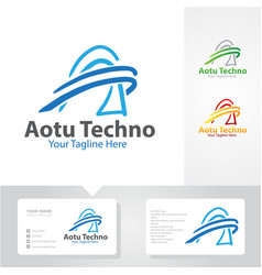 auto tech logo designs vector image