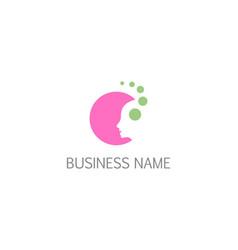 beauty face woman cosmetic salon logo vector image