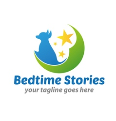 Bedtime Stories Logo vector image