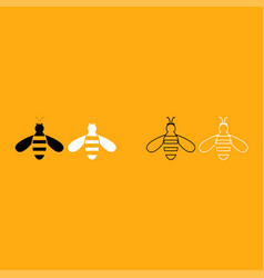 Bee it is white icon vector